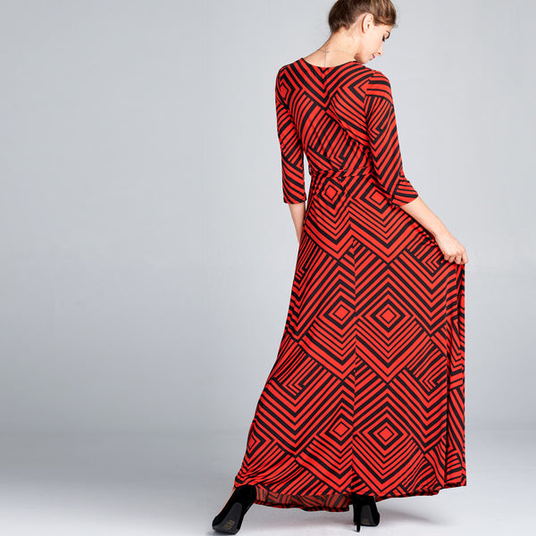 Geo Maze Venechia Wrap Dress