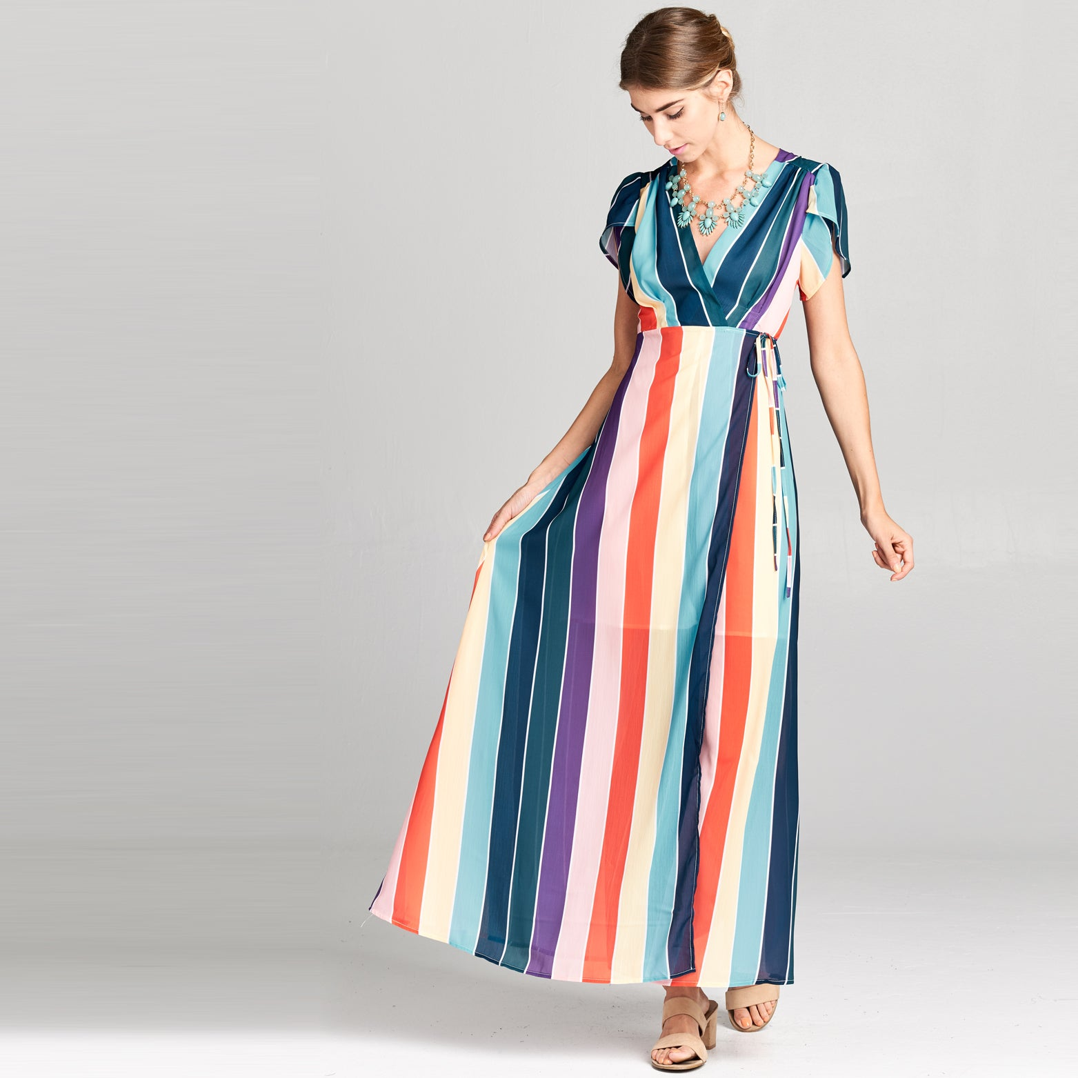 Vivid Rainbow Maxi Dress - Love, Kuza