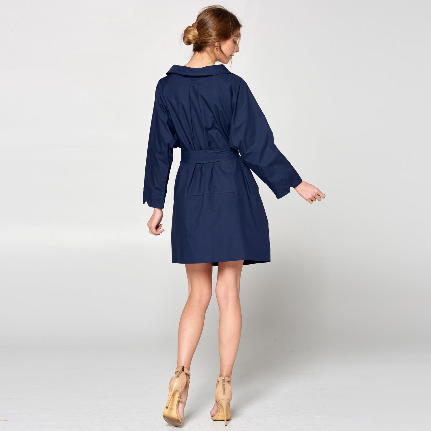 Button-Up Trench Dress