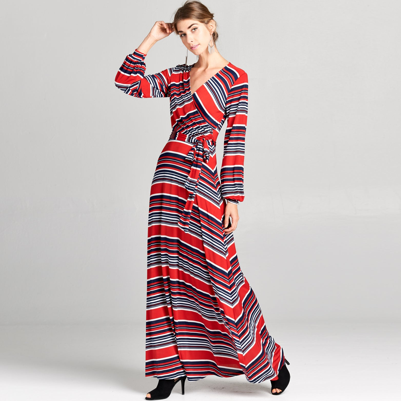 Cuffed Sleeve Venechia Stripe Dress