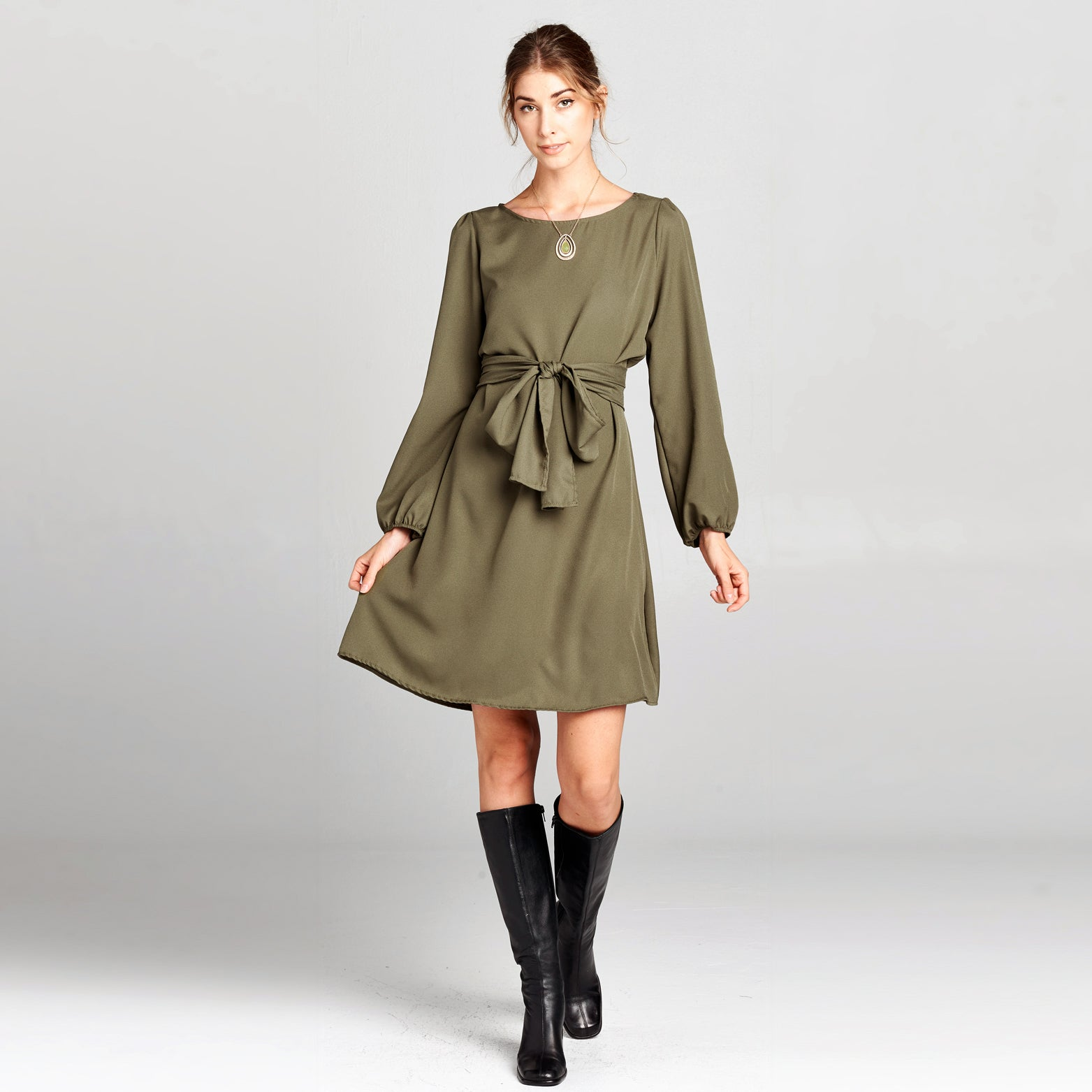 Bishop Sleeve Woven Dress
