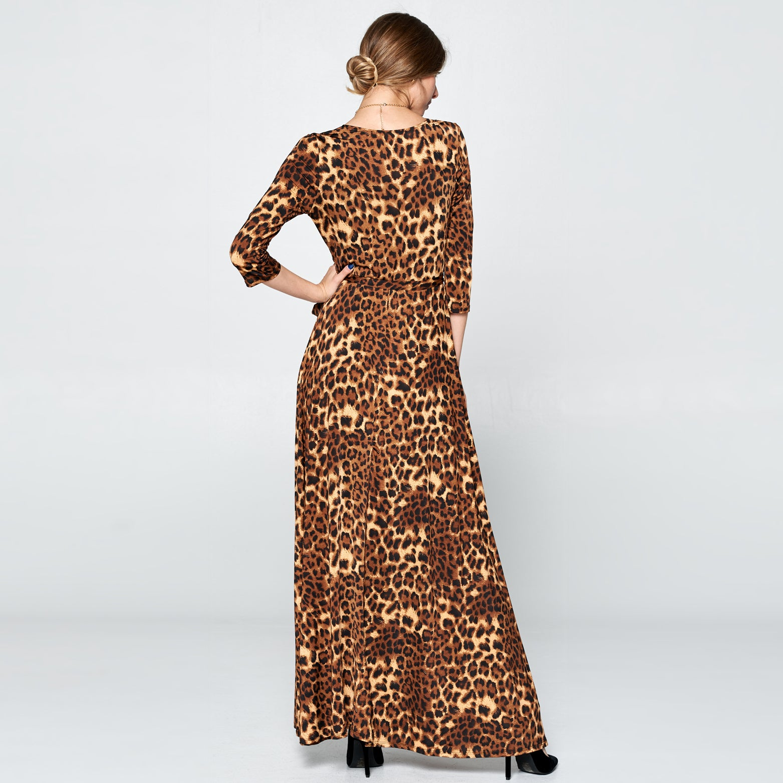 Leopard Venechia Wrap Dress