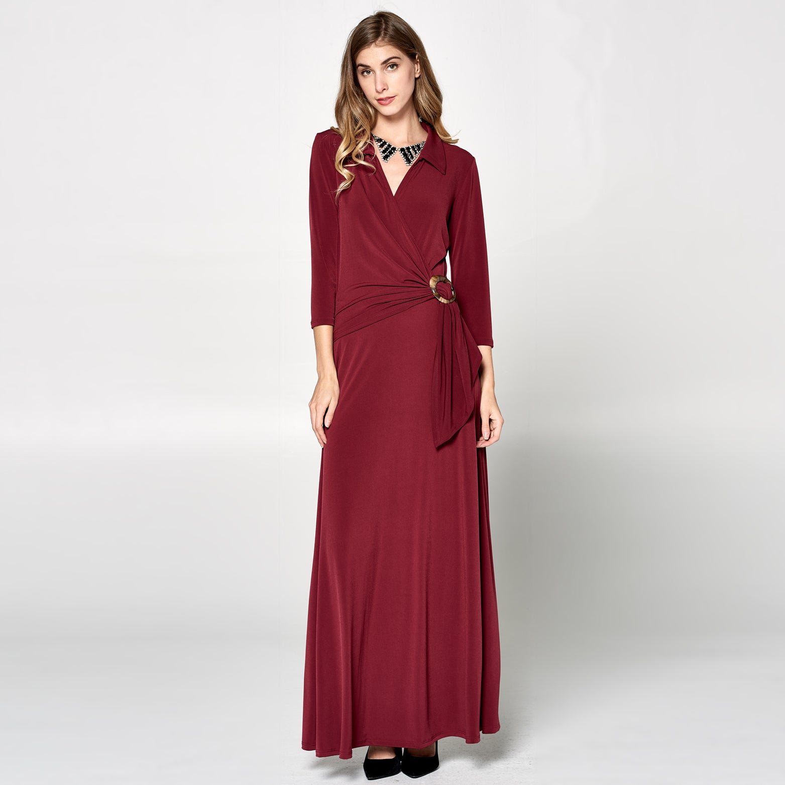 Solid Glam Venechia Wrap Dress - Love, Kuza