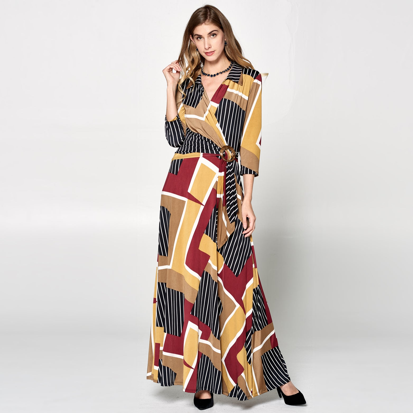 Geo Field Venechia Wrap Dress