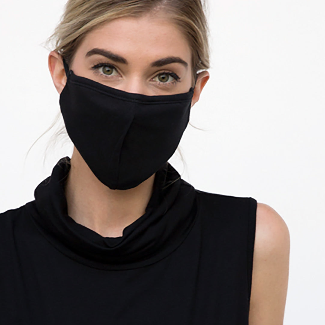 Solid 3 Layer 100% Cotton Mask