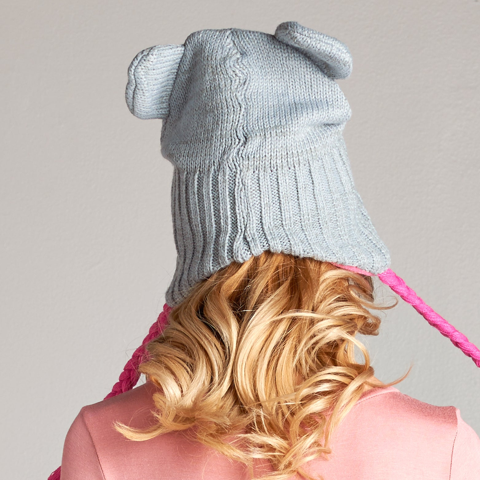 Cable Knit Character Beanie - Love, Kuza
