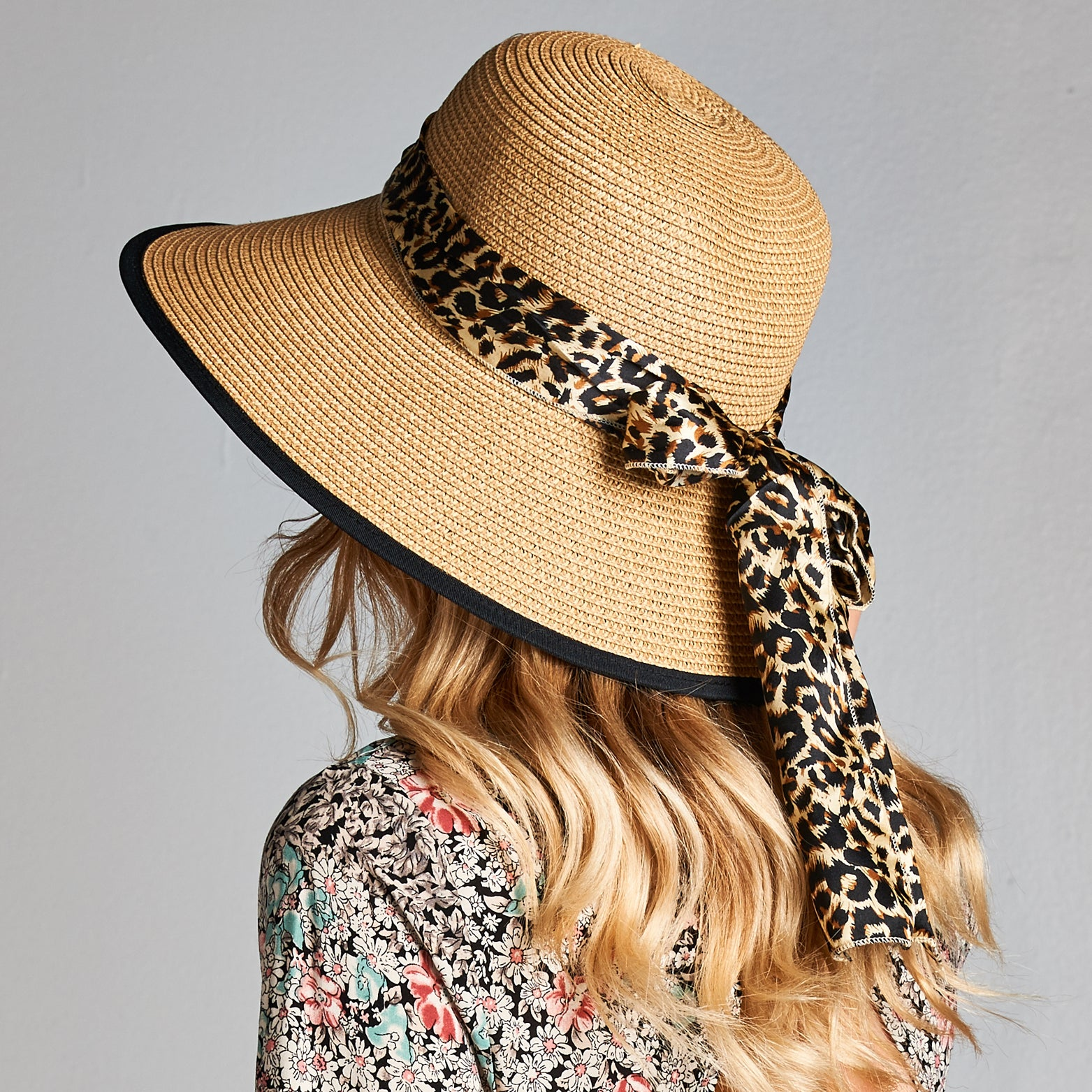Straw Sun Hat with Ribbon