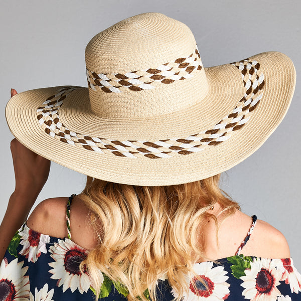 Straw Braid Floppy Sun Hat