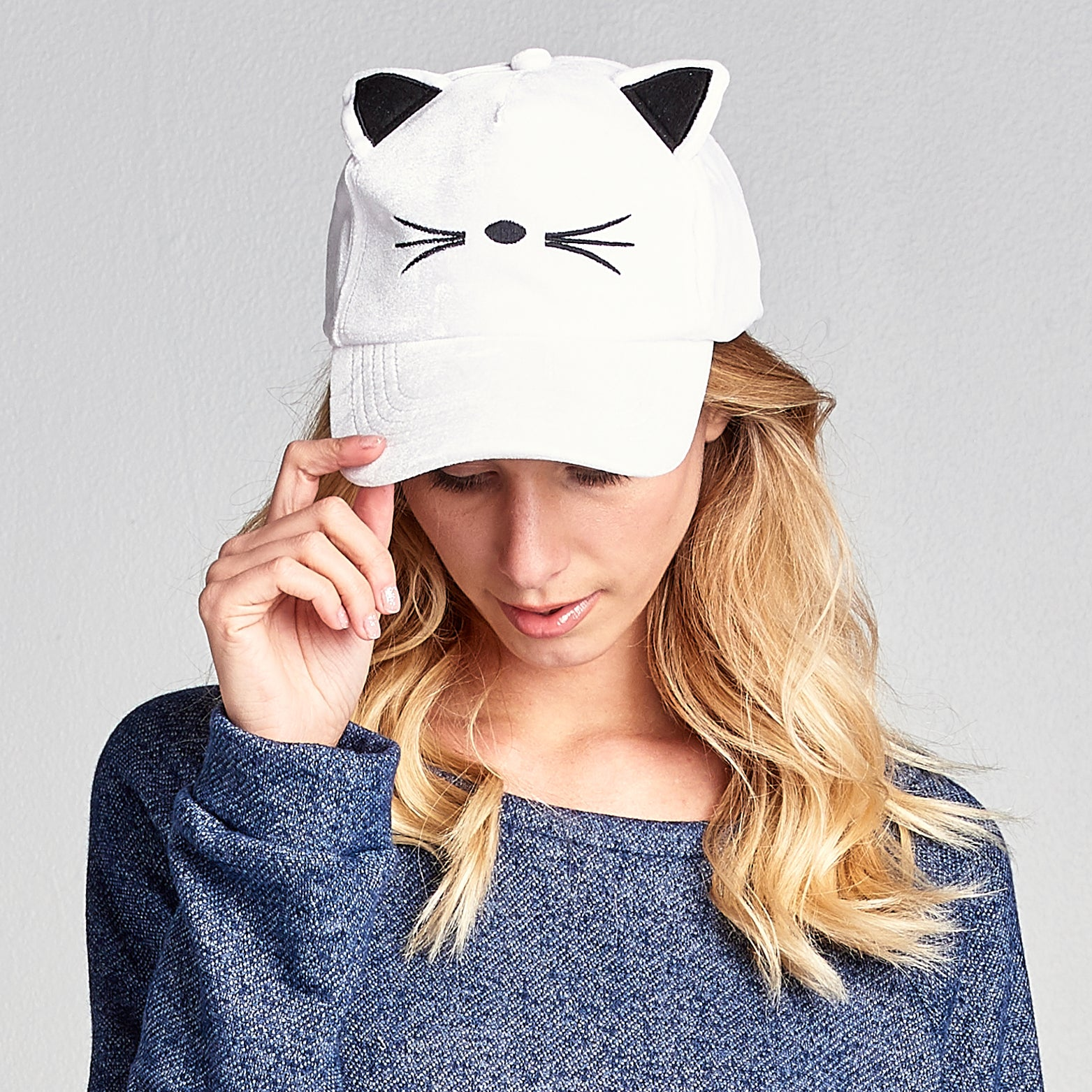 Kitty Velvet Baseball Cap