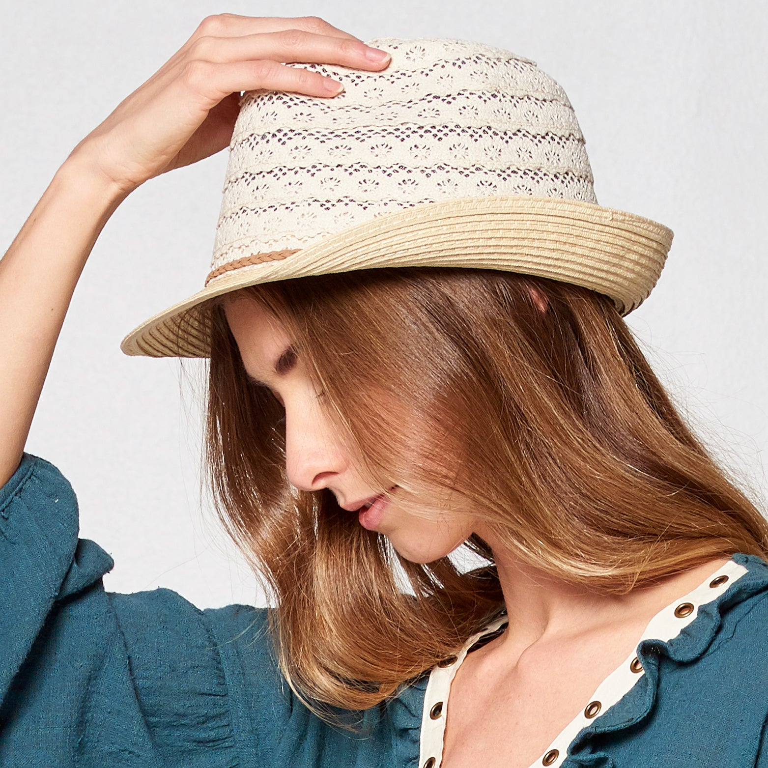 Crochet Crown Fedora - Love, Kuza