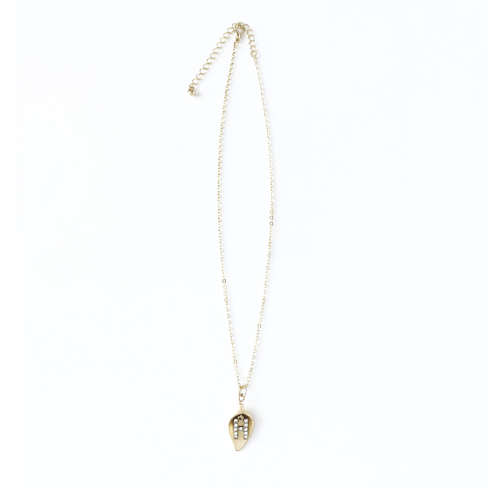 Letter Charm Shell Necklace
