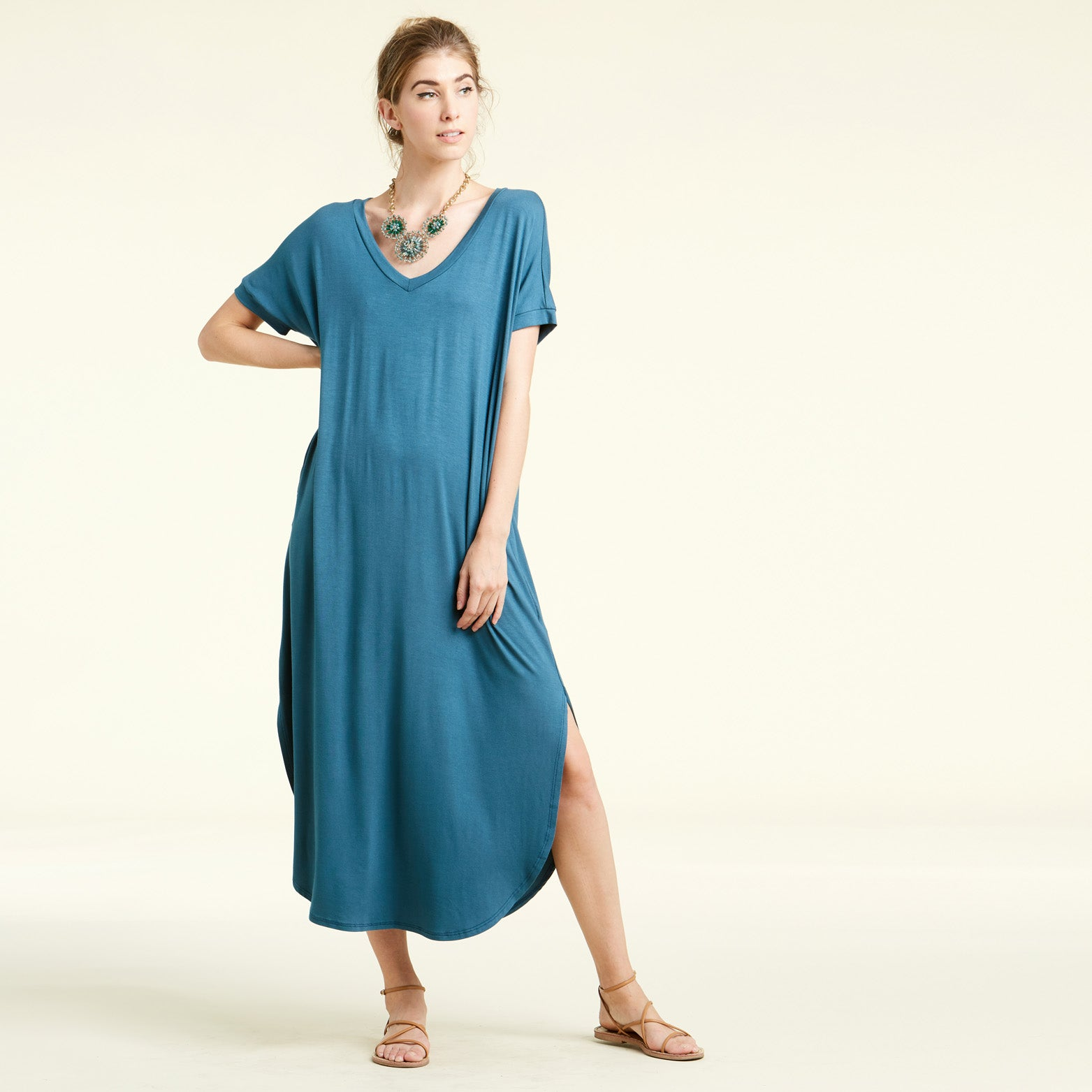 RL Teal Maxi Dress