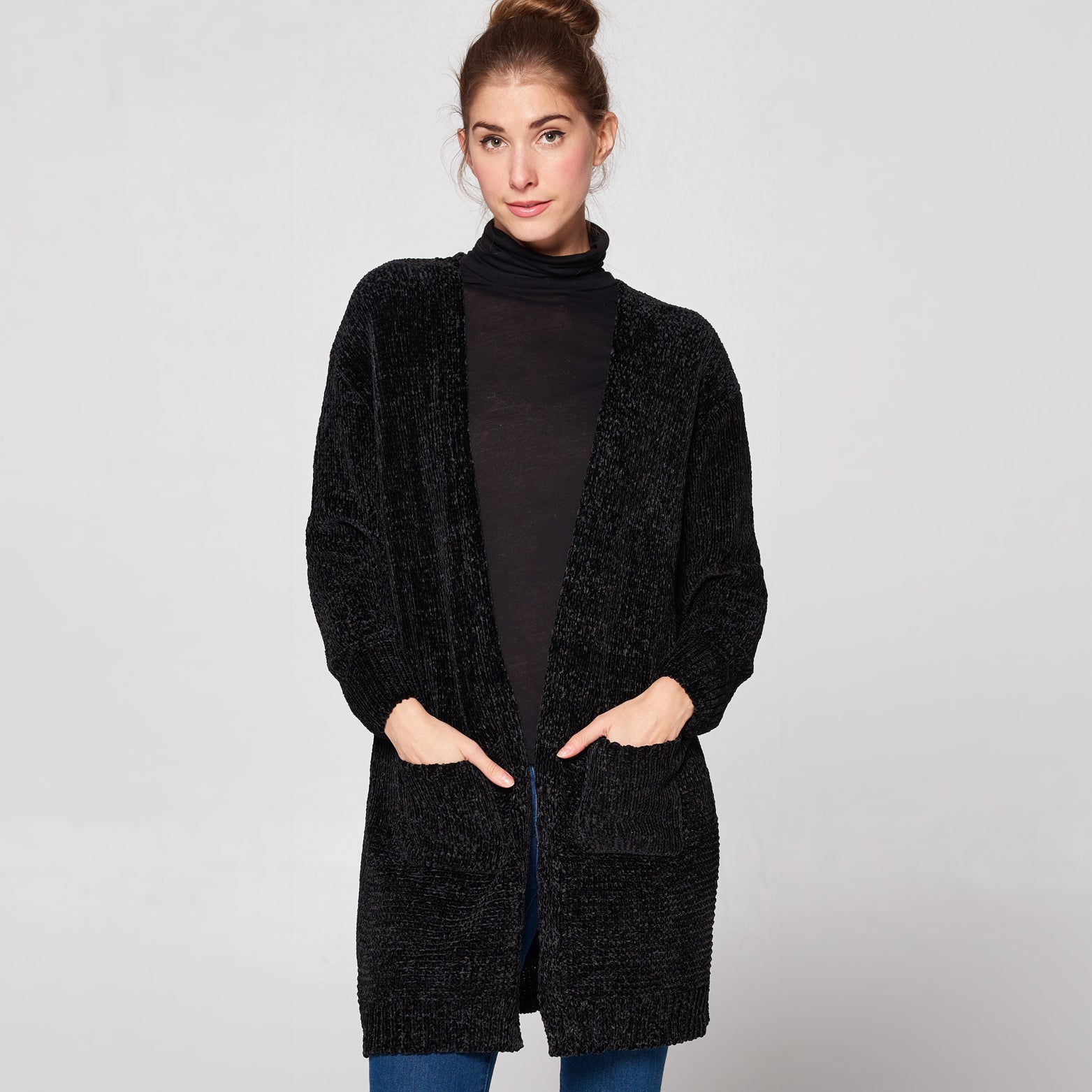 Chenille Knit Cozy Cardigan