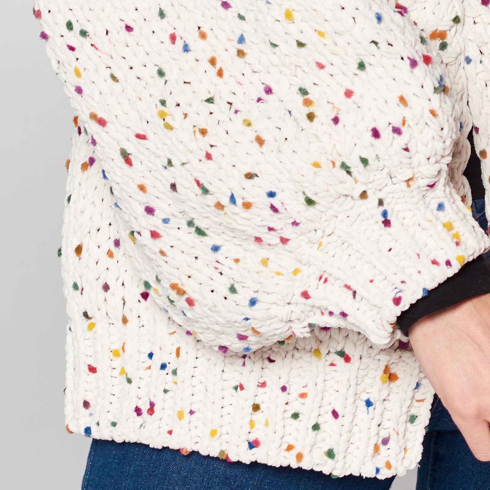 Balloon Sleeve Confetti Cardigan