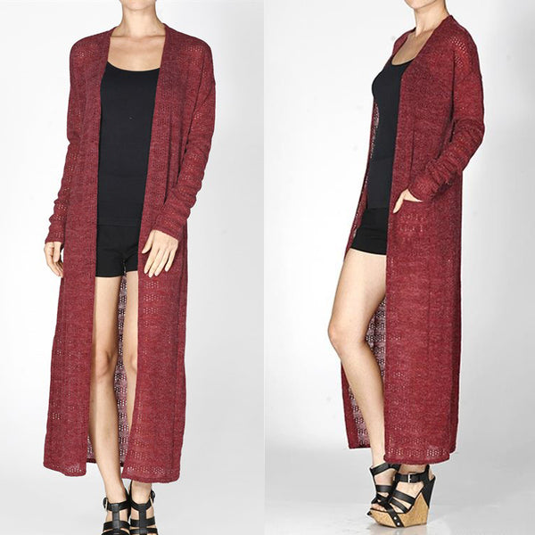 Sweater Maxi Pocket Cardigan