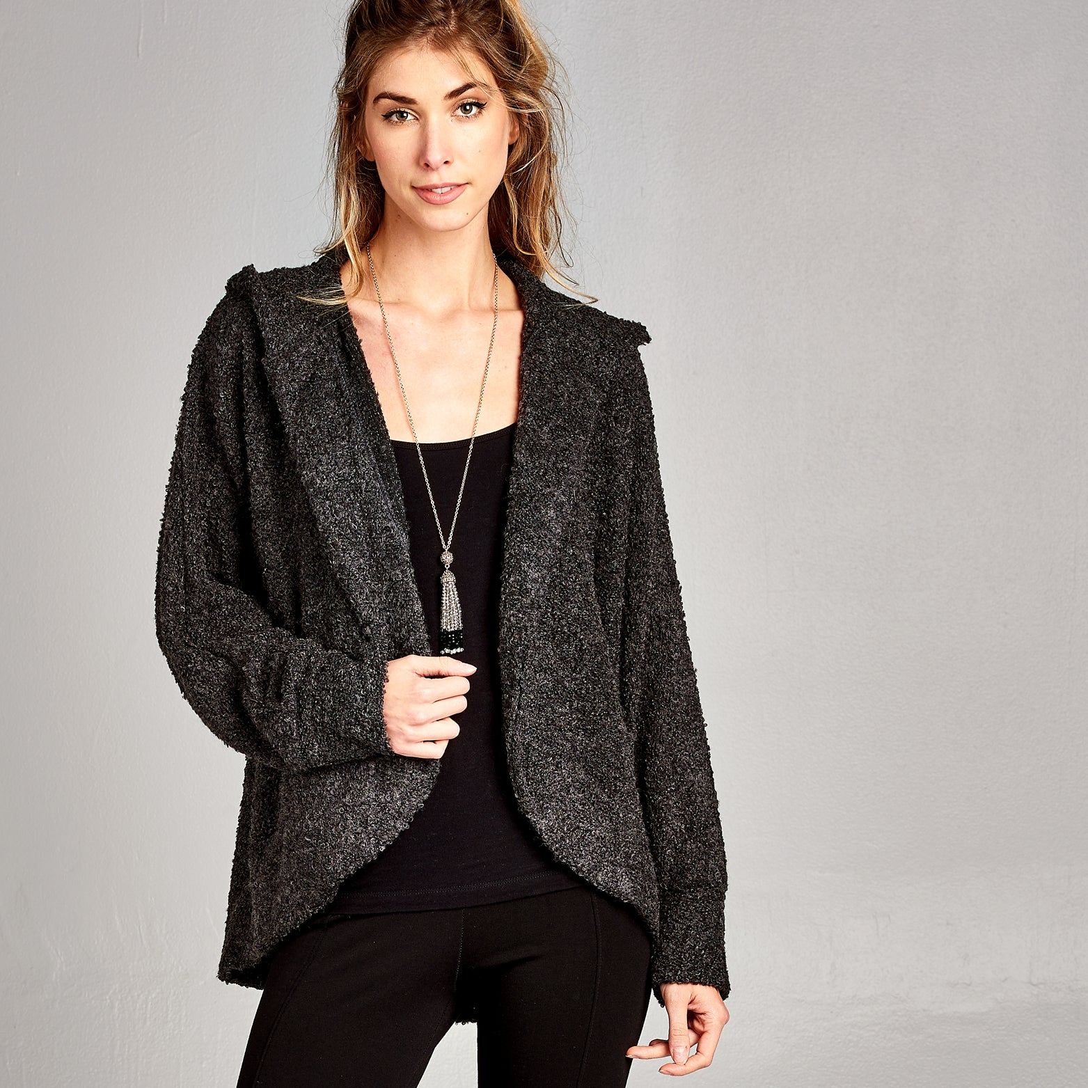 Slouchy Hooded Cardigan