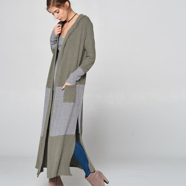Olive & Gray Long Cardigan