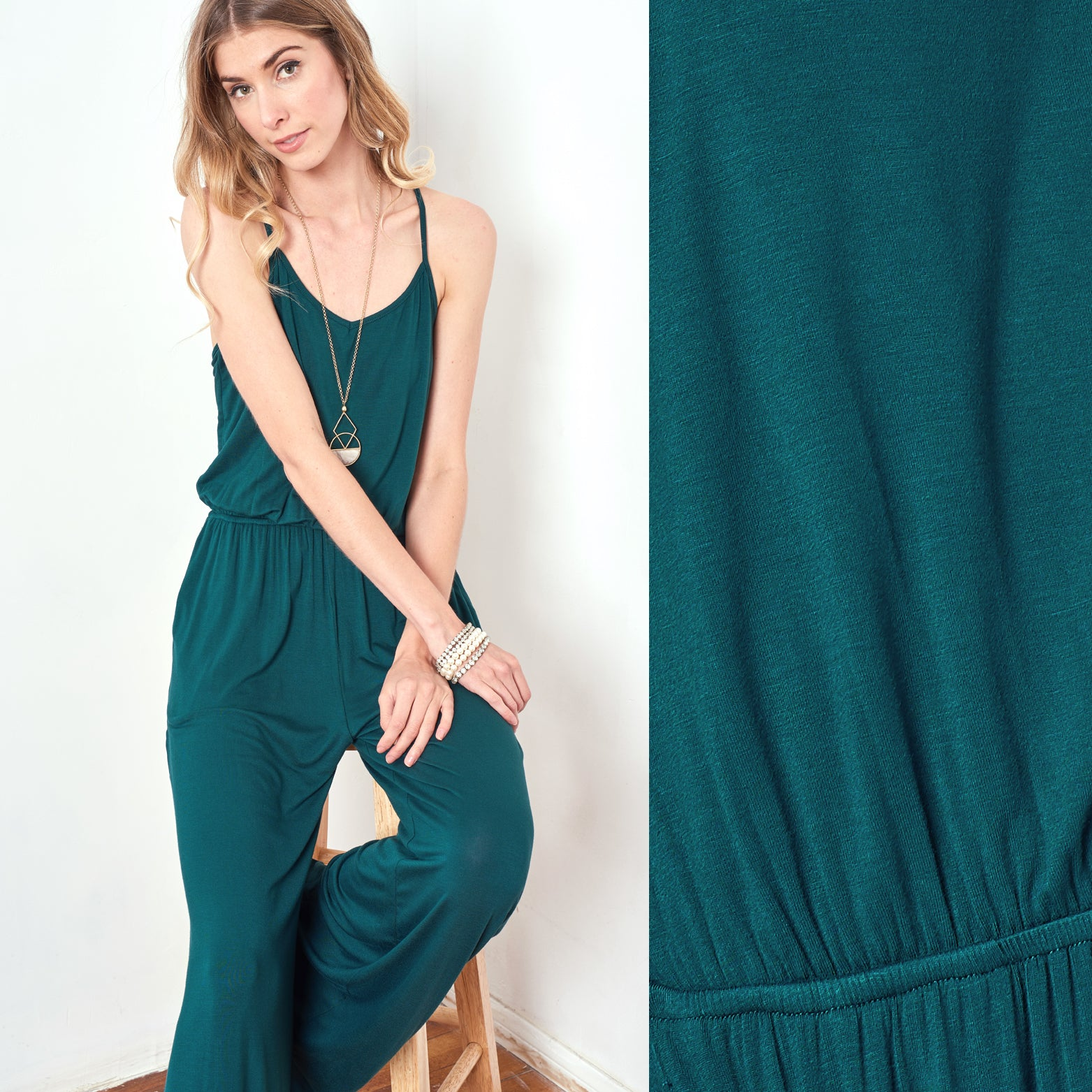 Wide Leg Maxi Jumpsuit