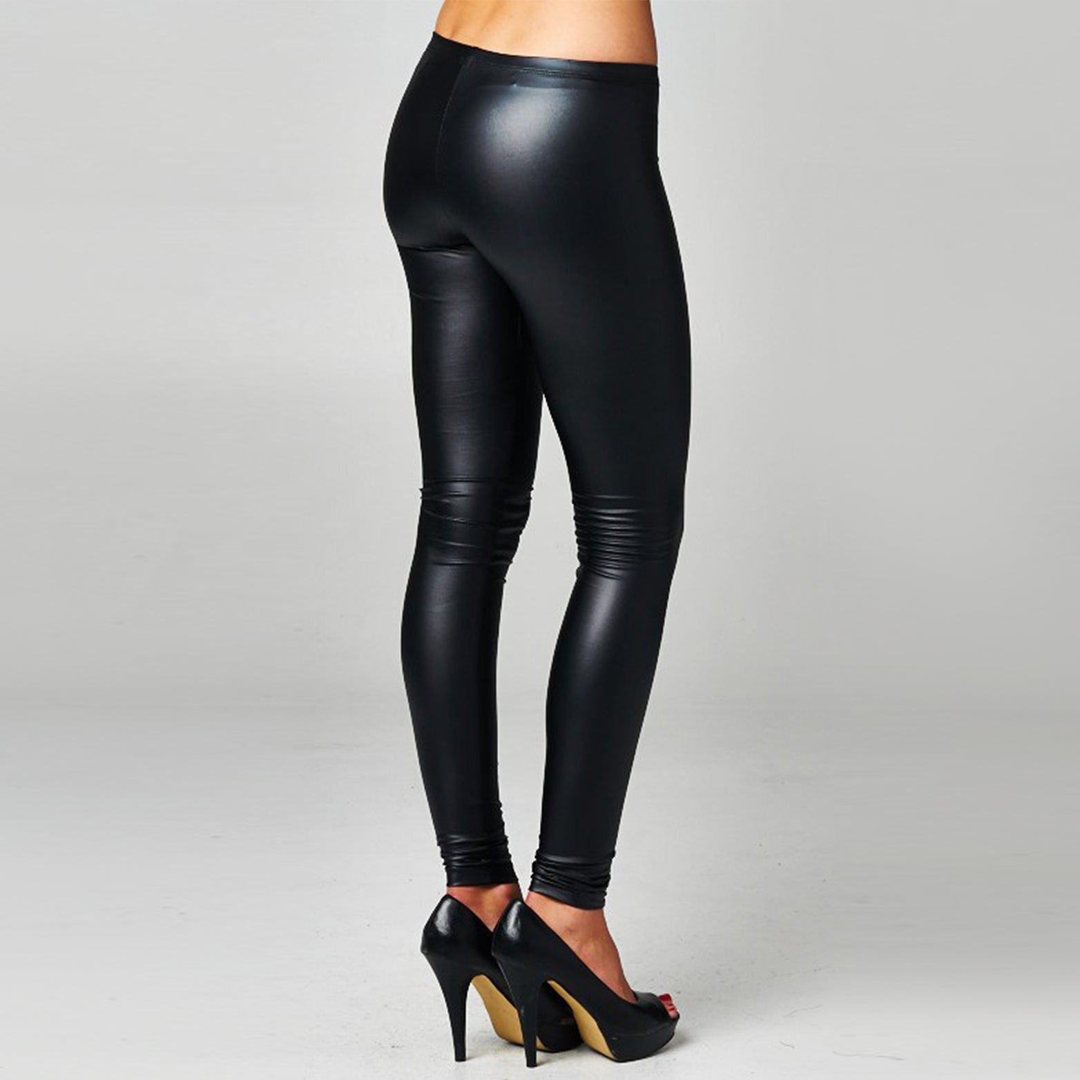 Black Faux Leather Leggings - Love, Kuza