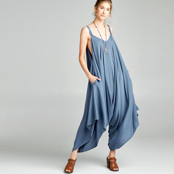 Oversized V-Neck Jumpsuit