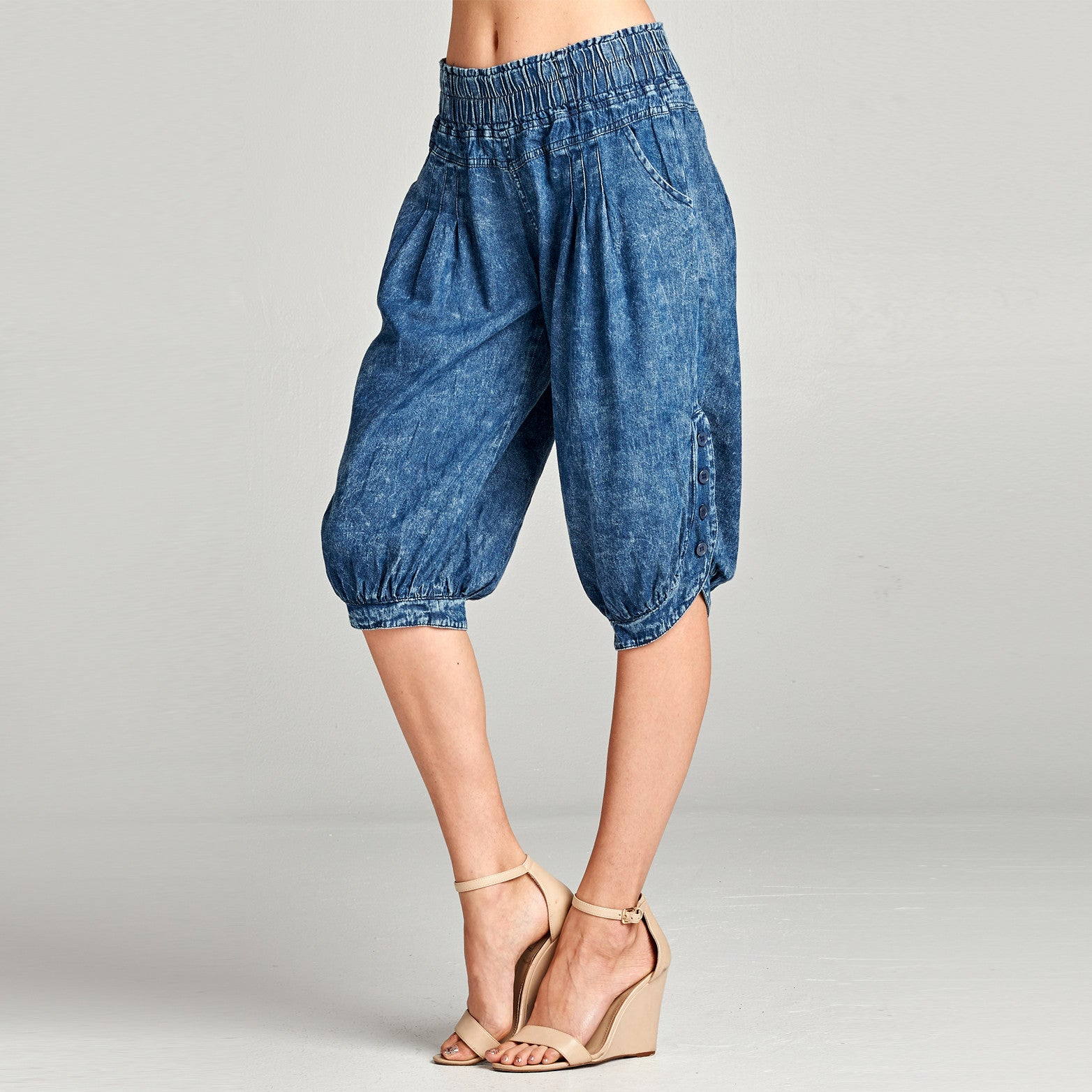 Denim Cropped Pants