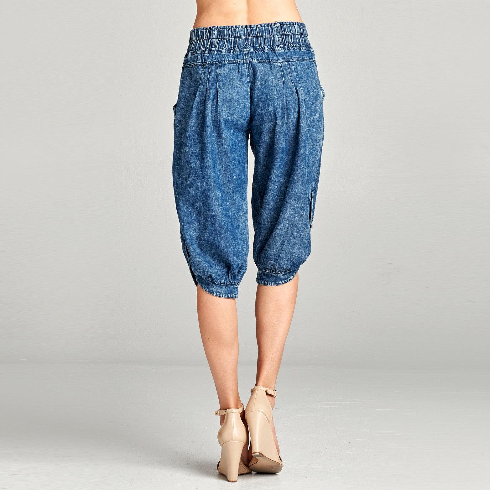 Denim Cropped Pants - Love, Kuza