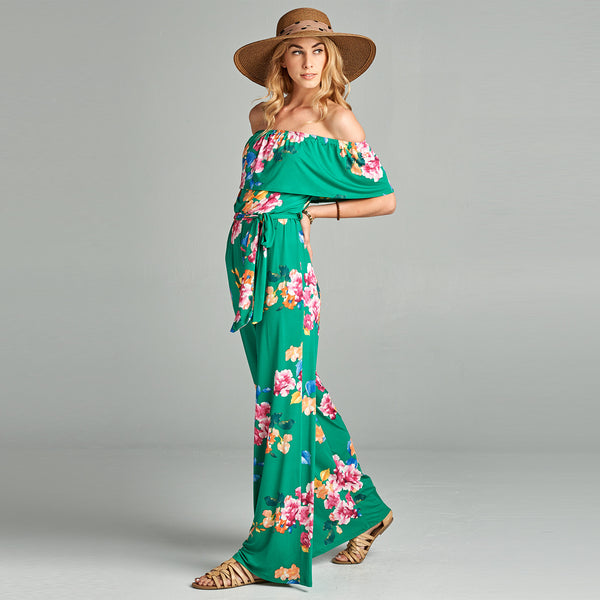 Sweet Floral Jumpsuit - Love, Kuza