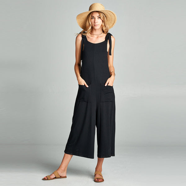 Ribbed Rayon Jumpsuit