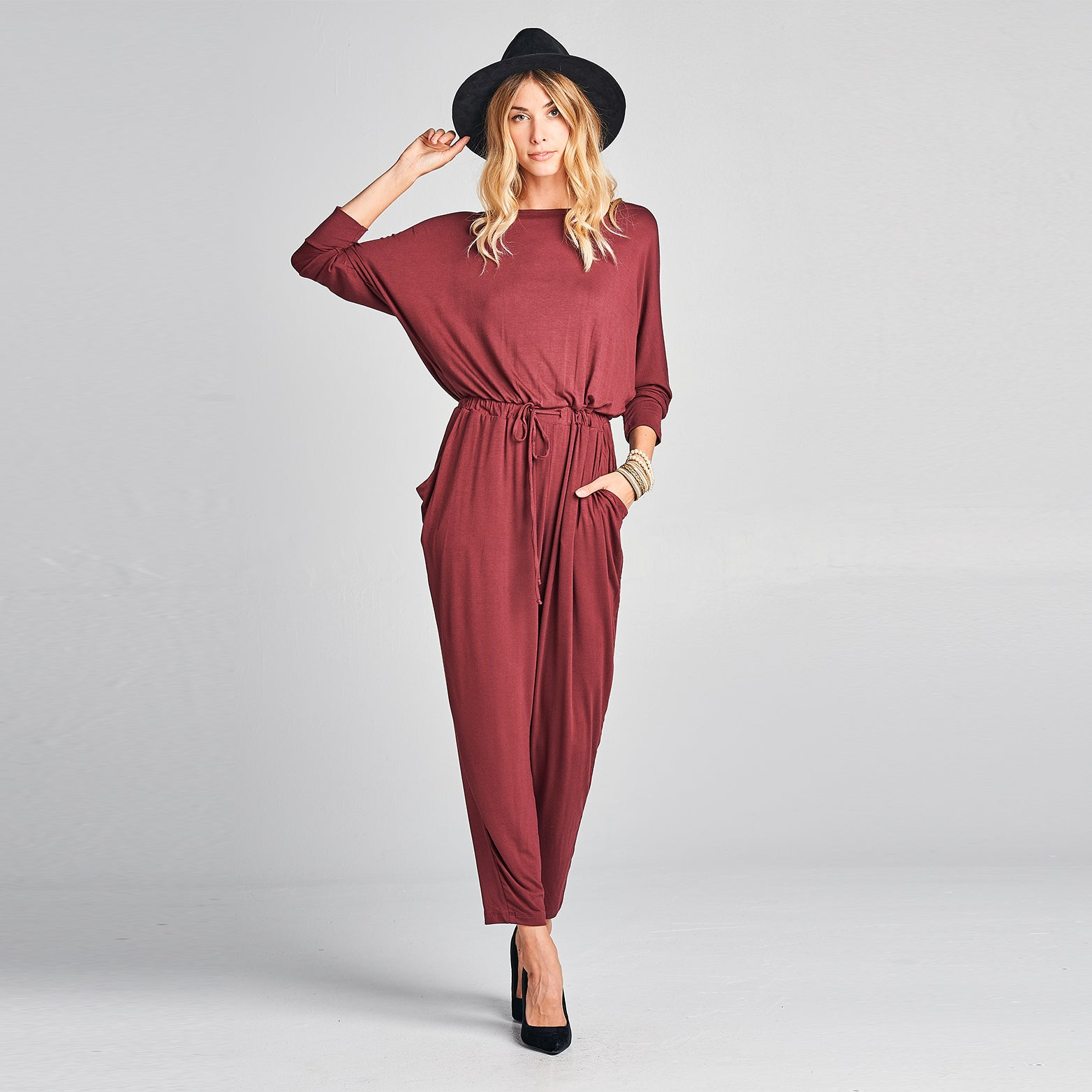 Double-Cross Rayon Jumpsuit