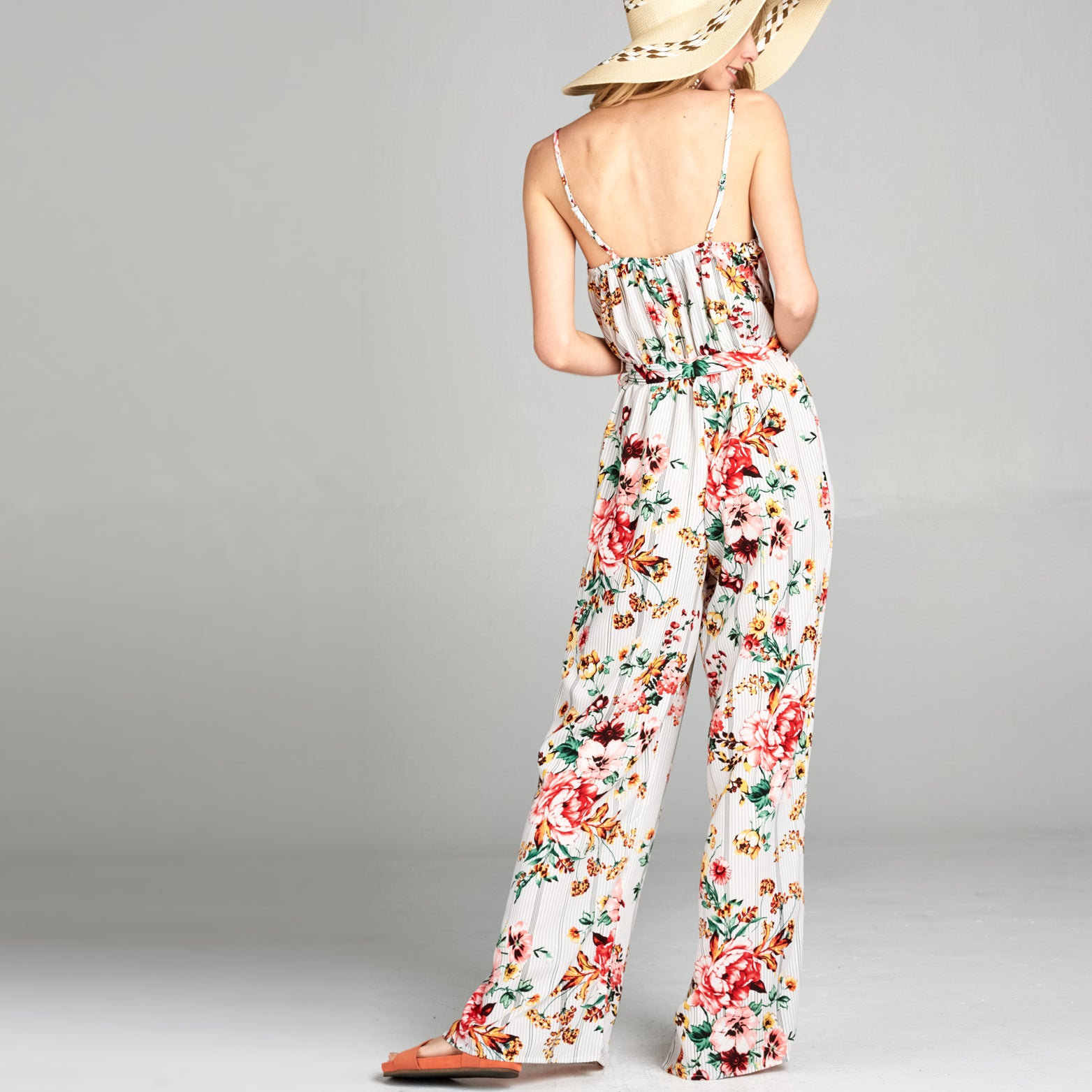 Sweet Blush Floral Jumpsuit