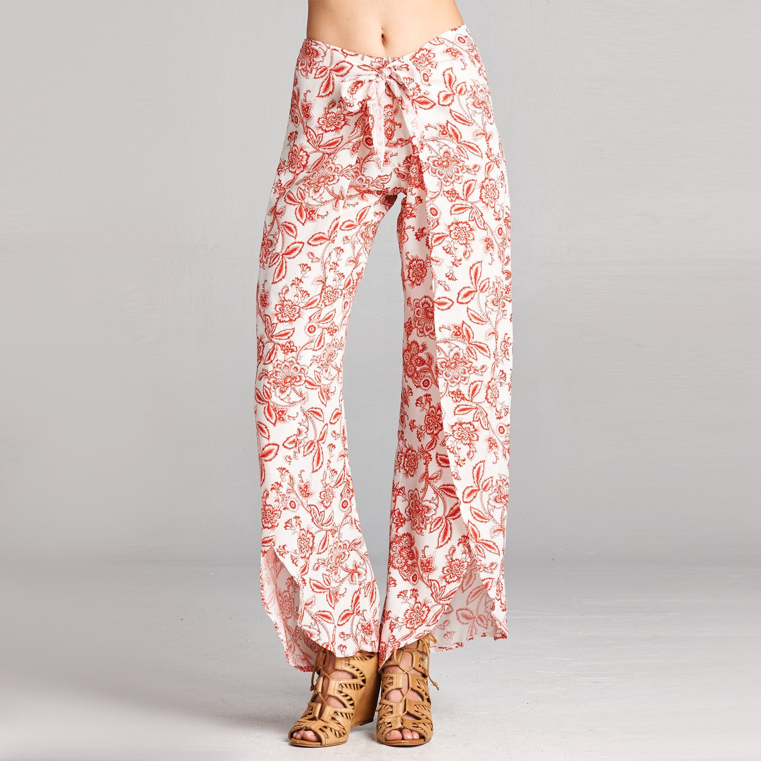 Floral Side Slit Colossal Pants