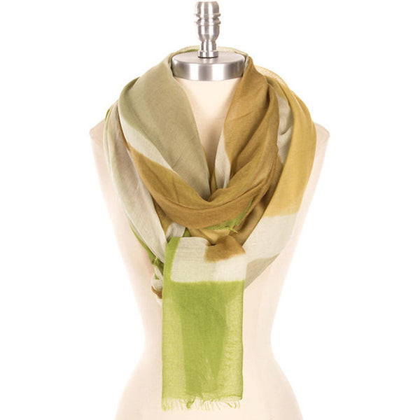 Happy Earth's Day Two Tone Stripe Scarf