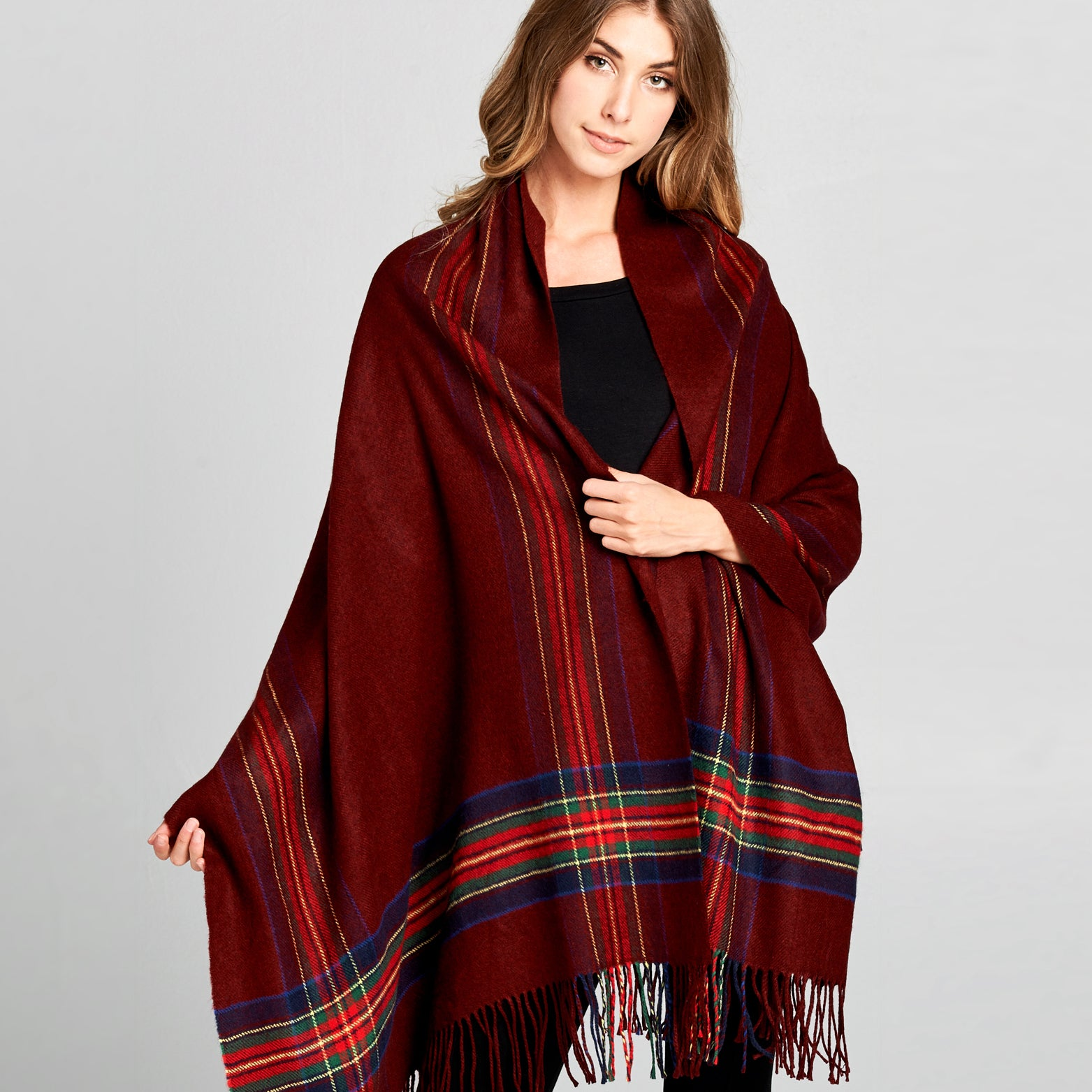 Oversized College Plaid Scarf