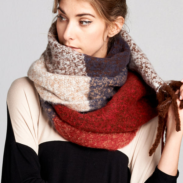Extra Soft Color Block Cozy Scarf