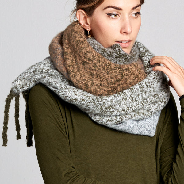 Extra Soft Color Block Cozy Scarf - Love, Kuza