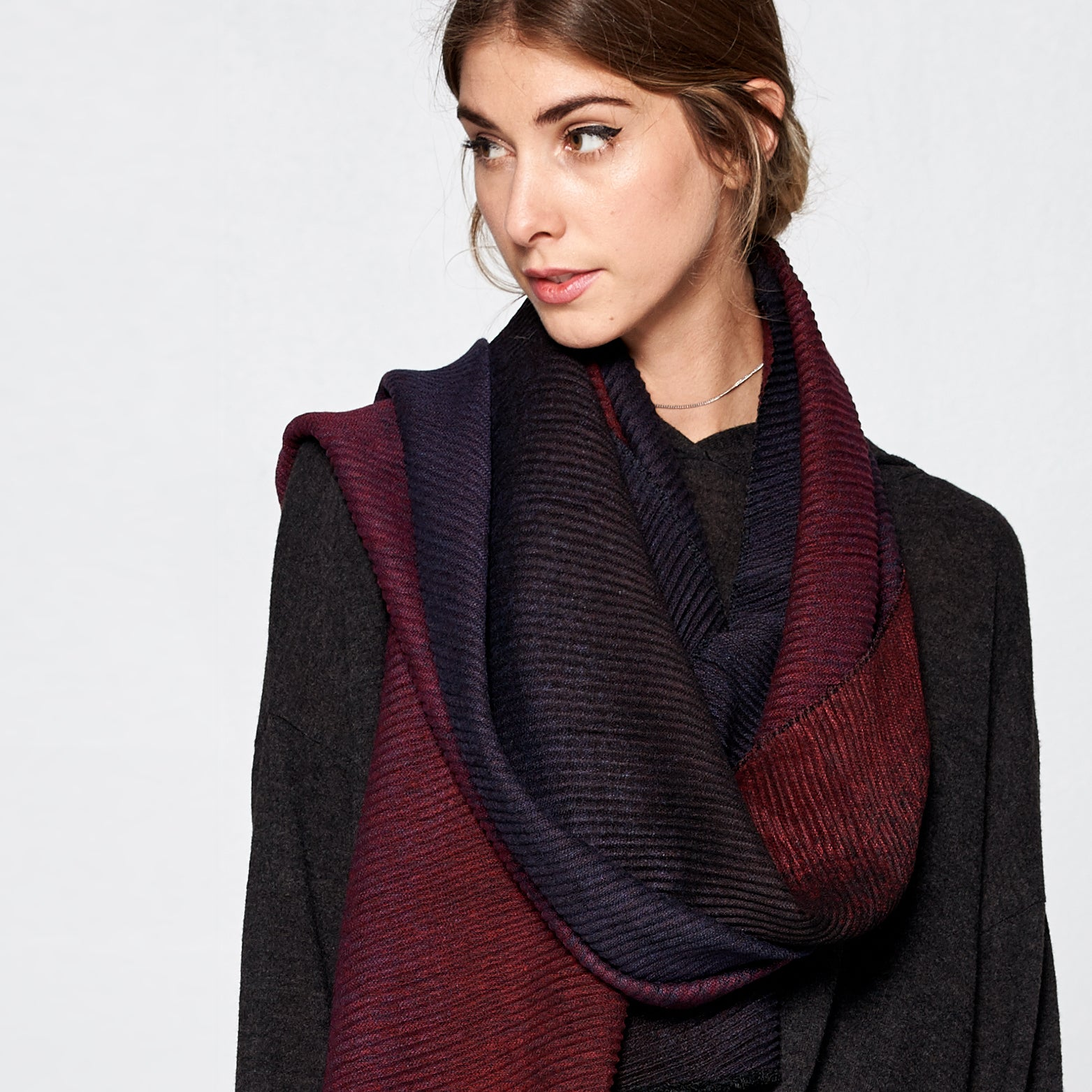 Pleated Gradient Scarf