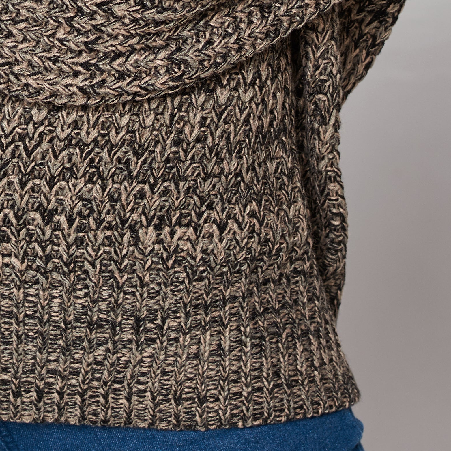 Distressed Marled Sweater