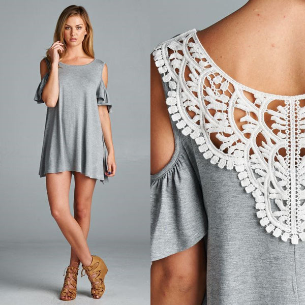 Flutter Sleeve Lace Back Tunic