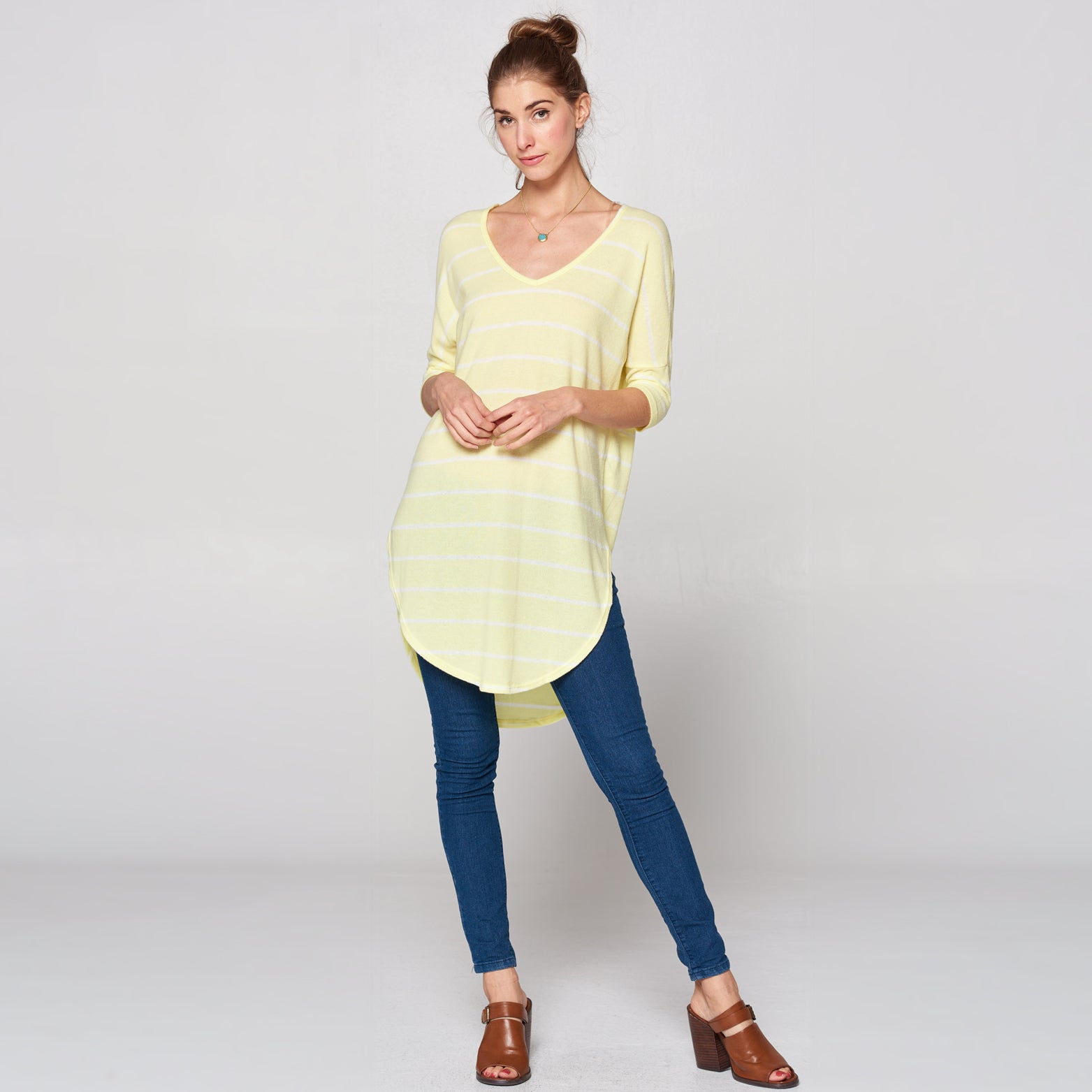 Ultra Soft Hacci Striped Tunic - Love, Kuza