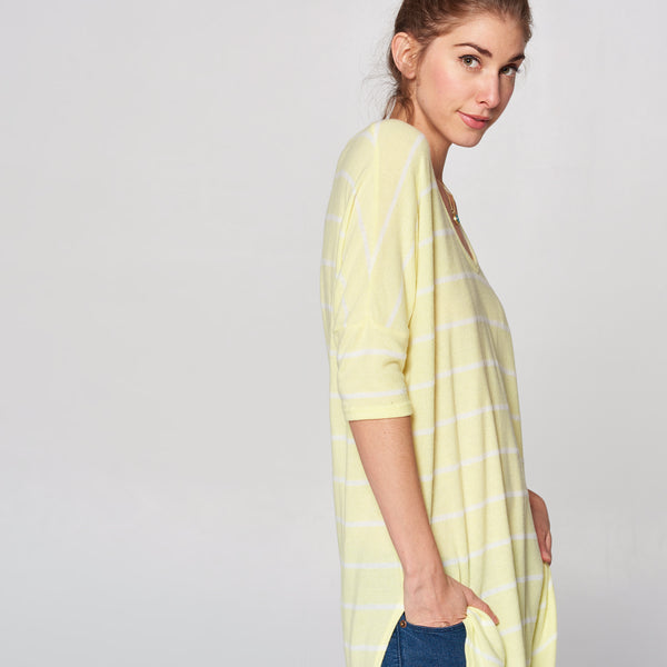 Ultra Soft Hacci Striped Tunic