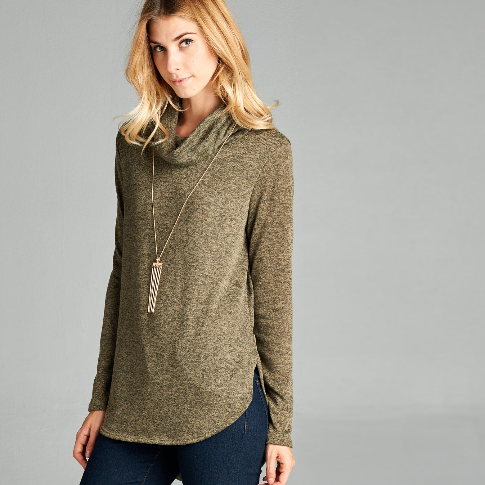 Merino Cowl Neck Top