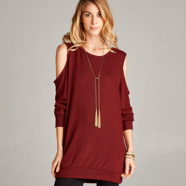 Extra Soft Cold Shoulder Tunic