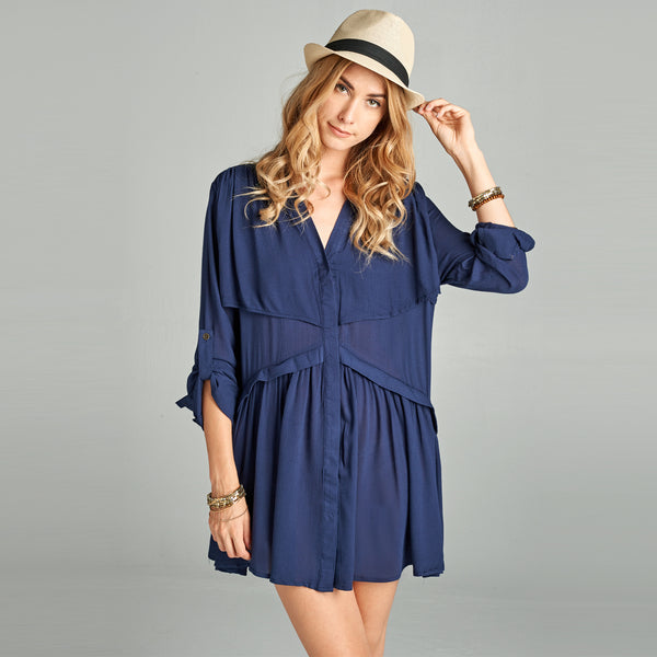Crepe Tunic Top