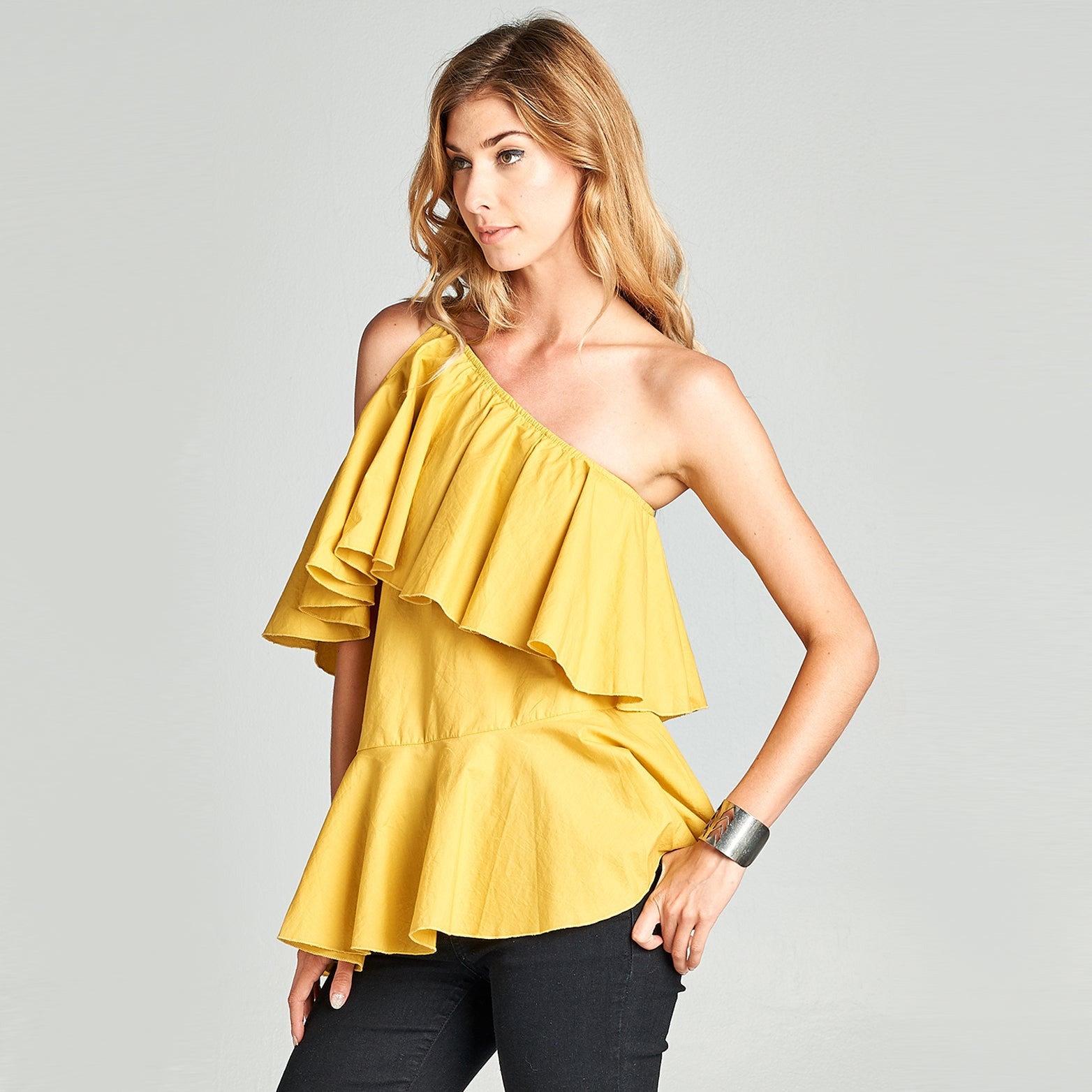 Frilled Off-The-Shoulder Top