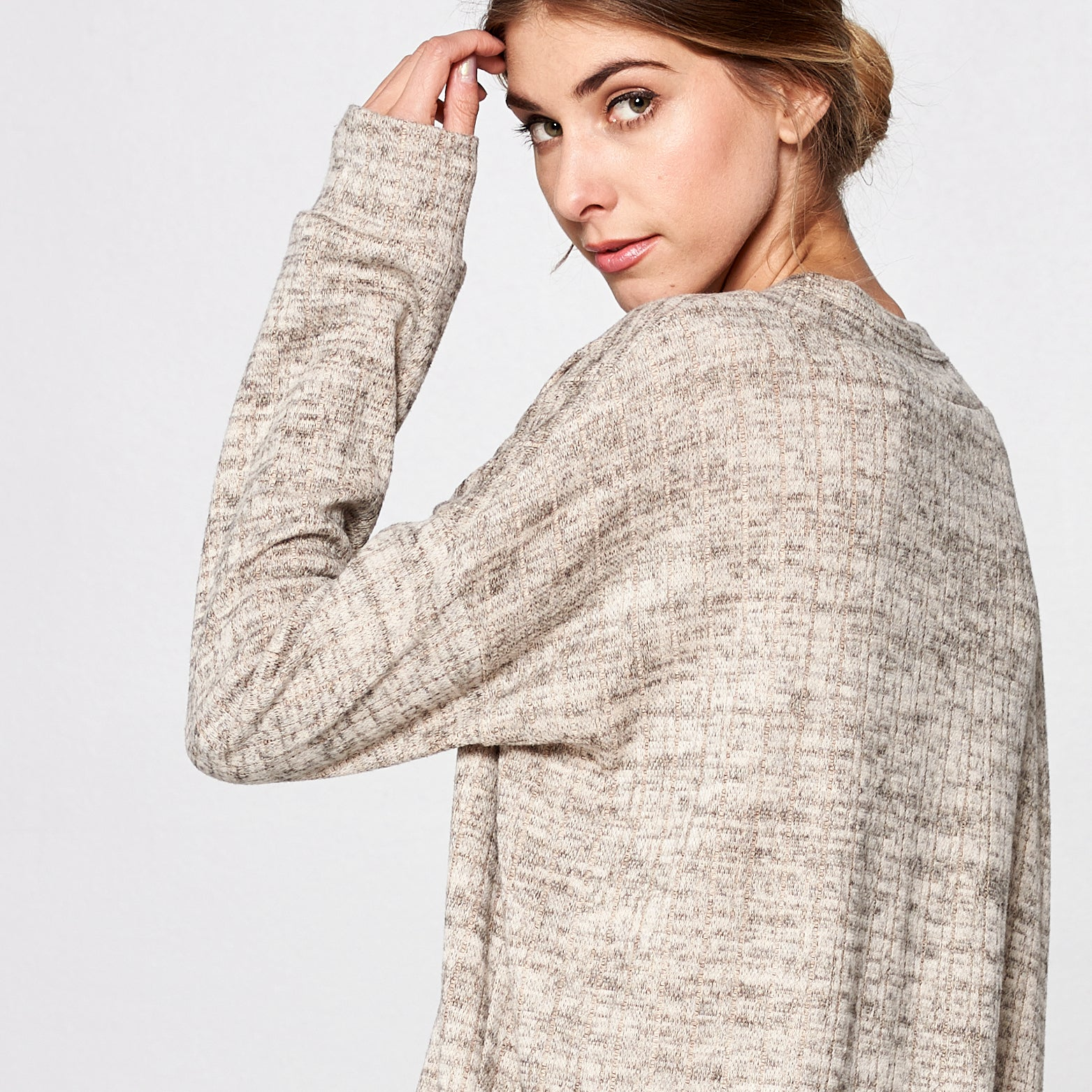 Relaxed Fit Cross-Front Sweater