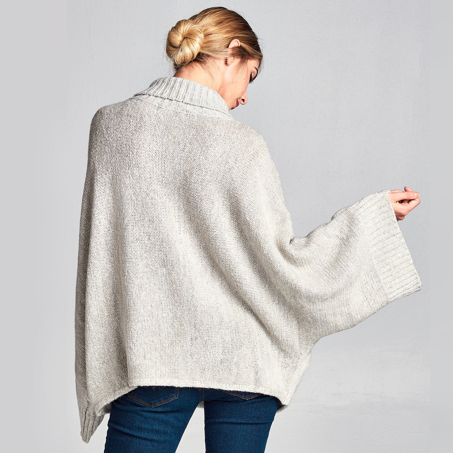 Cowl Neck Bell Sleeve Sweater - Love, Kuza