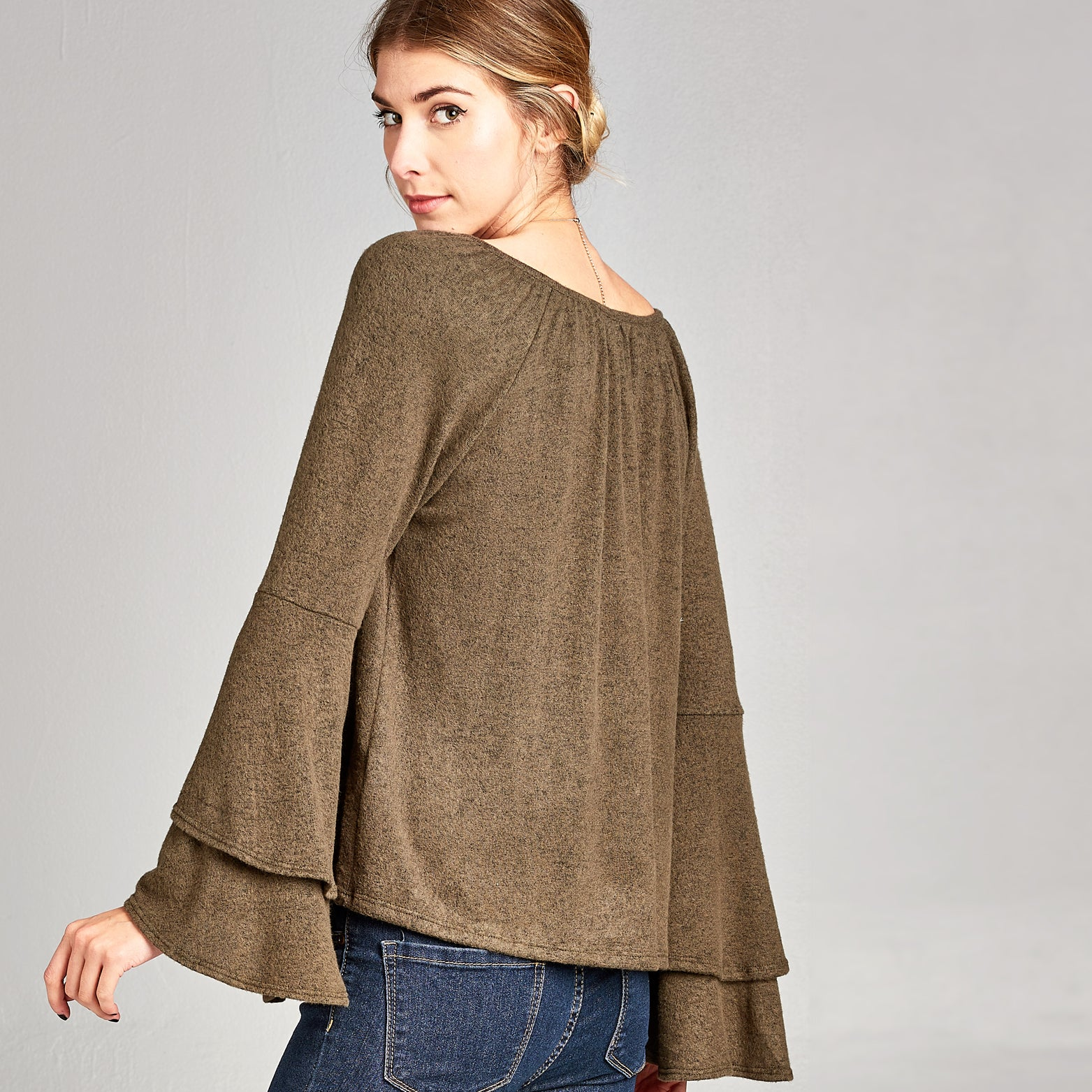 Extra Soft Bell Sleeve Top - Love, Kuza