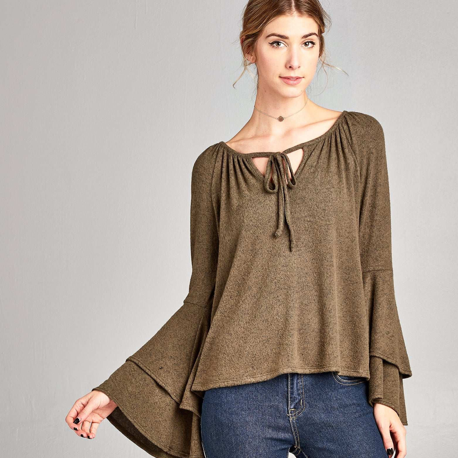 Extra Soft Bell Sleeve Top