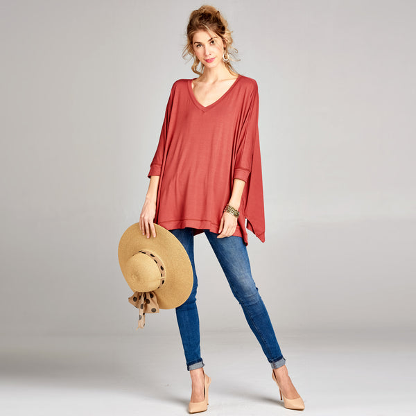 Dolman V-Neck Tunic