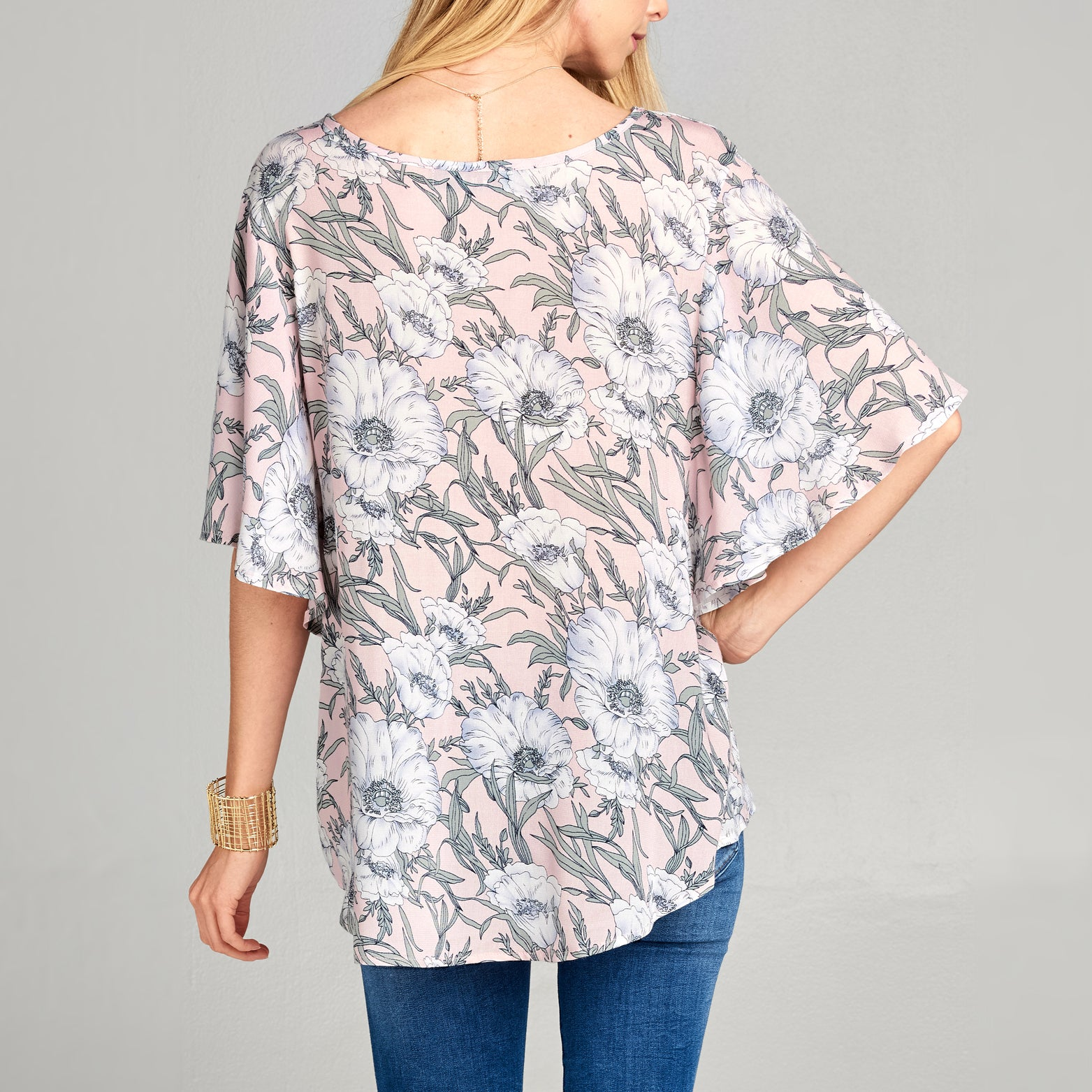 Butterfly Sleeve Floral Top - Love, Kuza